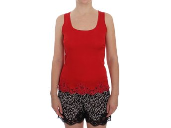 Dolce & Gabbana - Red Silk Stretch Camisole Lingerie Blouse