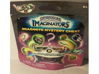 Skylanders imaginators imaginite mystery chest oöppnad lila påse
