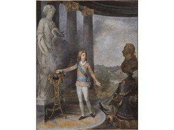 Javascript är inaktiverat. - Helsingborg - Gustav IV Adolf offrar åt Hygieia för sin faders hälsa efter det skändiga attentatet mot Gustav III 16 mars 1792. Fadern dog 29 mars. Konstnären är den svenske mästaren NIKLAS LAFRENSEN d.y. (1737-1807). Lafrensen var länge aktiv i F - Helsingborg