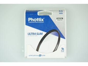UV Filter Phottix Ultra Slim 55mm NYTT