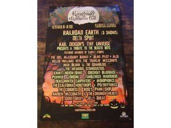 KONSERTPOSTER / Hangtown Halloween Ball 2012 / Railroad Earth / Delta Spirit