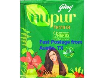 Godrej Nupur Henna powder with 9 Herbs. Silky/shiny hair. 5.3 Oz. Natural black - Austin - Godrej Nupur Henna powder with 9 Herbs. Silky/shiny hair. 5.3 Oz. Natural black - Austin