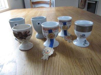 6 Stycken Äggkoppar Nya i Porslin & Keramik - Ingarö - 6 Stycken Äggkoppar Nya i Porslin & Keramik - Ingarö