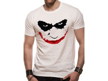 BATMAN THE DARK KNIGHT - JOKER SMILE OUTLINE T-Shirt - X-Large
