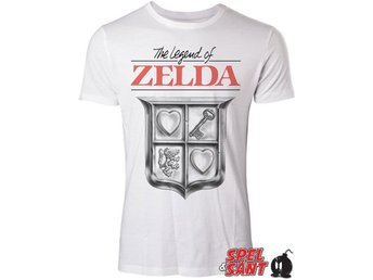 Nintendo Zelda Game Cover T-Shirt Vit (Small)