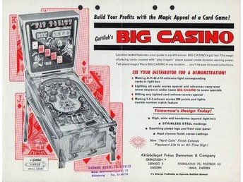 Original flyer Gottlieb BIG CASINO