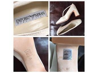 65665b87209 Emporio Armani bröllopsskor till brud strl 38 italiensk design