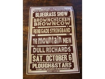KONSERTPOSTER / HSB Afterparty 2012 /Dull Richards /The Mountain Men / BLUEGRASS