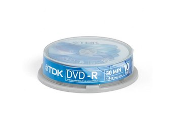 TDK DVD-R 8cm 1,4GB 10-pack Cakebox