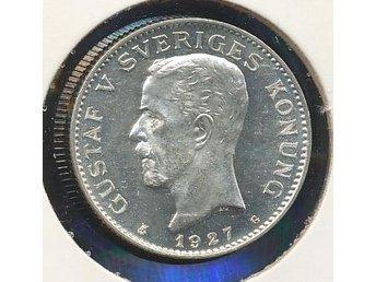 1927 1 kr Gustaf V se bild - Västra Frölunda - 1927 1 kr Gustaf V se bild - Västra Frölunda
