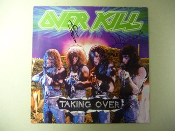 "OVERKILL - SIGNERAD LP ""TAKING OVER"" - SIGNED"