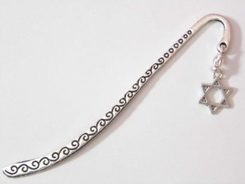 Davidsstjärna bokmärke / Star of David bookmark