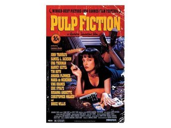 Pulp Fiction Affisch Uma On Bed A591