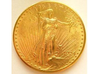 USA. $20 Gold Double Eagle, St. Gaudens typ. 30,1 g guld. - Lund - USA. $20 Gold Double Eagle, St. Gaudens typ. 30,1 g guld. - Lund