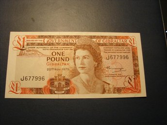 GIBRALTAR  ONE  POUND  1975