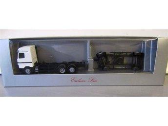 Herpa MB lastbil med släp för containerlast.. - Stockholm - Herpa MB lastbil med släp för containerlast.. - Stockholm