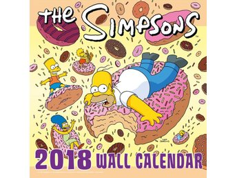 THE SIMPSONS - Officiell 2018 Kalender - 30cm x 30cm - Ny