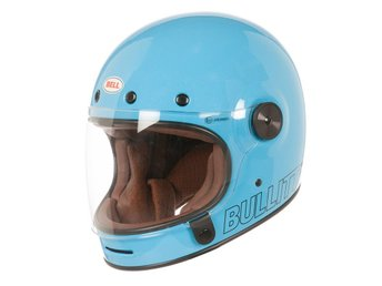 BELL Bullitt Retro Blue Full Face (Ord.5000:-) Motorcycle Helmet Medium