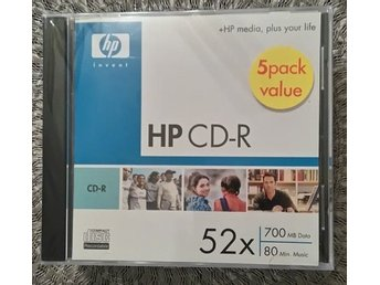 CD-r skivor HP 5-pack 52x 700 Mb 80 min.