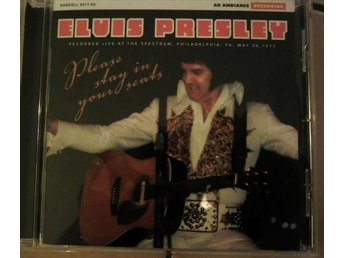 ELVIS PRESLEY : PLEASE STAY IN YOUR SEATS RARE