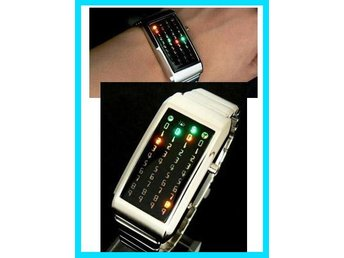 Koreanska!COOL Klocka 40 LED Ljus Armbandsur mit Box