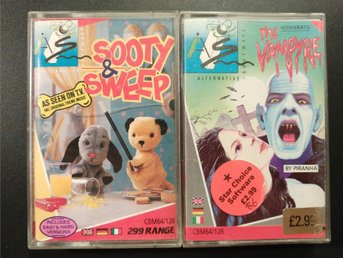 Sooty & Sweep + The Vampyre till Commodore 64 / 128 | C64 | C128