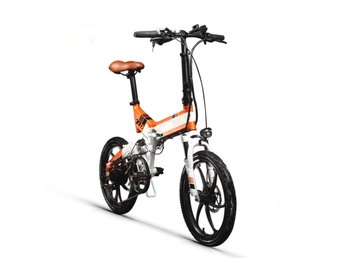TOP-730 Elcykel - Hopvikningsbar - 35km/h - Orange