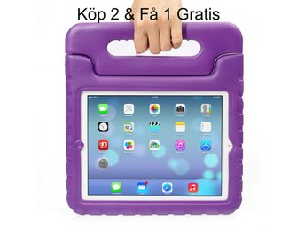 iPad Air 2/iPad 6  - Kids Shockproof Stand Case Cover/Kids Friendly Case - Lila