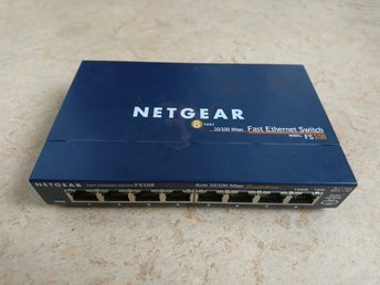 netgear 8 port 10/100 mbps fast ethernet switch model fs108 v2