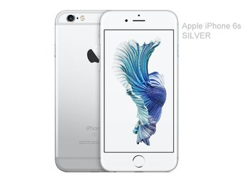 Apple iPhone 6s 64GB, vit silver, white silver, RIMLIGT SKICK
