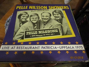 PELLE NILSSON SHOWERS - LIVE AT RESTURANT PATRICIA UPPSALA 1975 - LP