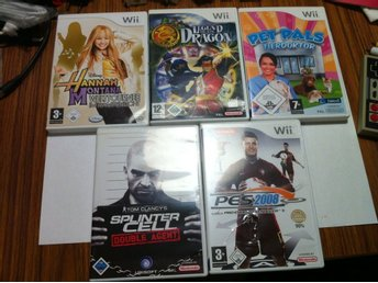 Wii: 10 st Wii Spel: Legend of the Dragon, Avatar, FIFA m.m.