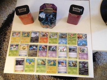 23 st Pokemonkort och 3 lådor - Avesta - 23 st Pokemonkort och 3 lådor - Avesta