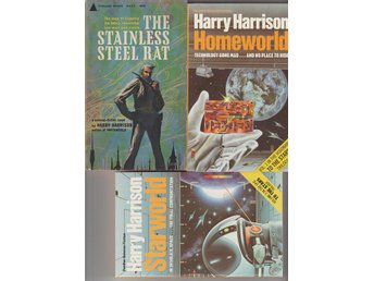 FANTASY&S.F     Harry Harrison Stainless Steelrat+ 2 Homeworld books