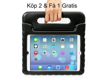 iPad 9,7 (2017) Kids Shockproof Stand Case Cover/Kids Friendly Case - Svart