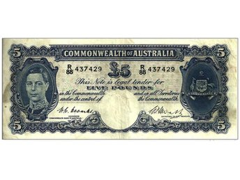 Australia: Commonwealth of Australia - 5 pounds, nd (1949) P 27c