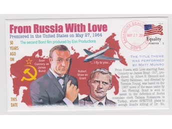 50th USA Release *FROM RUSSIA WITH LOVE* FDC
