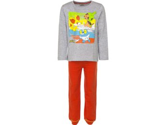 Pokemon, Grå/orange pyjamas 110 cl