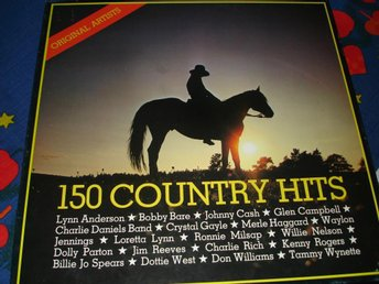 150 Country hits, Box med 10 LP