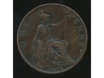 Great Britain 1896 1 Penny  se bild