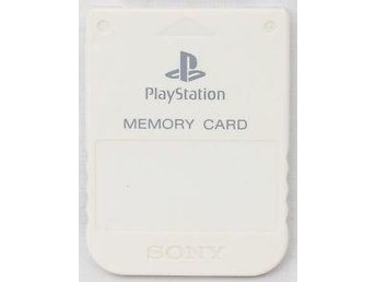 Minneskort / Memory Card (Sony-original) till PlayStation PS1 (vitt)