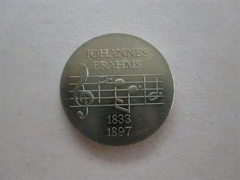 ddr 5 mark, 1972 Johannes Brahms. - Ninove - ddr 5 mark, 1972 Johannes Brahms. - Ninove