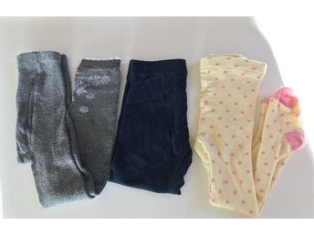 3 st Strumpbyxor/tights stl 86/92