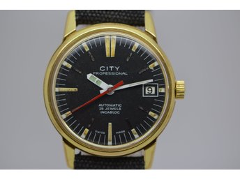 SUPER FIN VINTAGE UR CITY PROFESSINOAL AUTOMATIC 25 JEWELS