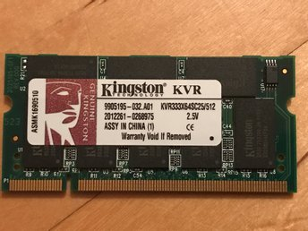 Kingston 512 MB DDR RAM 333MHz SODIMM