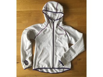 Everest funktionsjacka tunn softshell vit hoodie 140