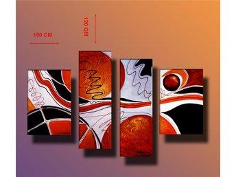 Abstrakt, oljemålning 150x120 cm - Tollarp - Abstrakt, oljemålning 150x120 cm - Tollarp