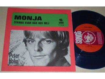 Peter Holm 45/PS Monja 1969 VG BLÅ VINYL Ovanlig - Farsta - Peter Holm 45/PS Monja 1969 VG BLÅ VINYL Ovanlig - Farsta