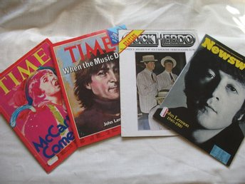 BEATLES 4 GAMLA TIDNINGAR JOHN LENNON Mc CARTNEY mm TIME NEWSWEEK ROCK EBDO