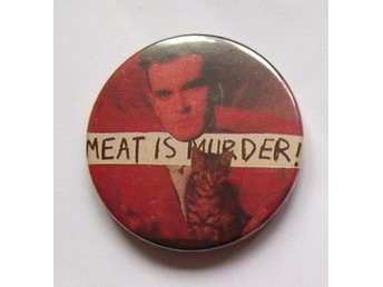 MORRISSEY (pin/knapp) MEAT IS MURDER Vegetarian The Smiths